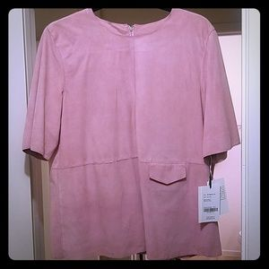 Suede Pink Blouse